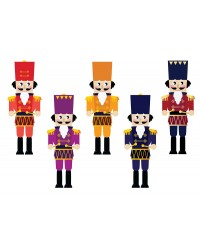 Character edible icing image sheet Christmas Nutcrackers