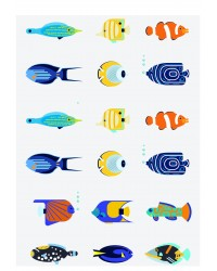 Character edible icing image sheet Tropical Fish
