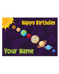 Custom edible icing image A4 Outer Space with planets