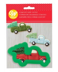Comfort grip cookie cutter Truck with Christmas Tree