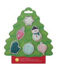 Mini Christmas Cookie Cutter Set 6 by Wilton