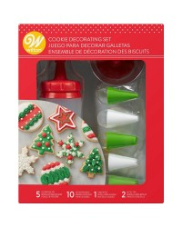 Cookie Decorating Set 18 Pieces squeeze bottle nozzles and bags
