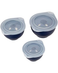 Set of 3 mixing and prep covered bowls by Wilton