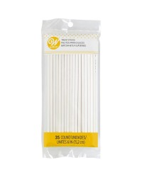 6 inch lollipop sticks pack of 35 by Wilton