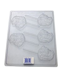 Santa lollipop chocolate mould No 1