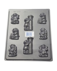 Christmas Teddy Bears Chocolate mould