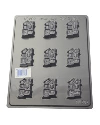 Crazy Houses Chocolate mould