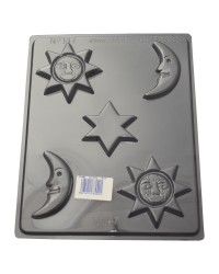 Sun Moon and stars chocolate mould style no 2