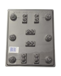 Deep fill Classic Roses truffle chocolate mould
