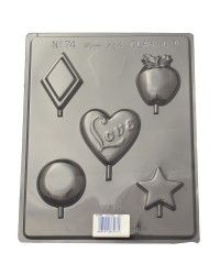 Assorted shapes lollipop chocolate mould