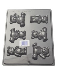 Teddy bears sitting and standing chocolate mould