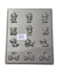 Little People Teddy bears cats dogs and cars chocolate mould