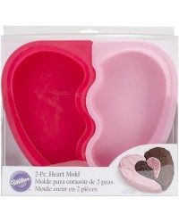 Heart shape silicone cake pan puzzle Bake two flavours for one finished heart