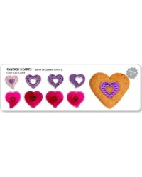 Jem Fantasy heart cutters set of 4 great for cupcakes