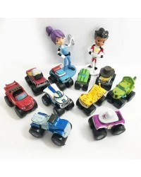 BLAZE and the MONSTER MACHINES PLASTIC cake topper FIGURINES 12 PIECE SET