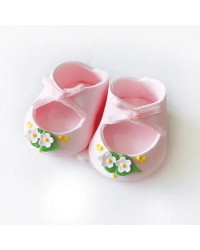 Baby booties sugar icing cake decoration Pink