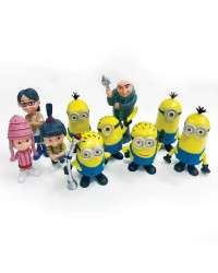 DESPICABLE ME MINIONS PLASTIC FIGURINES cake topper 10 PIECE SET