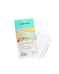 CLEAR CULINARY SCRAPERS SET OF 2 Small and Medium By SUGAR CRAFTY