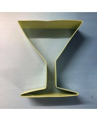 Martini or margarita cocktail glass cookie cutter