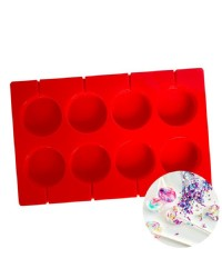 50mm large lollipop silicone mould great for isomalt and hard candy