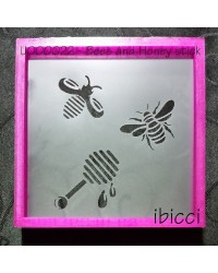 Bees and honey stick stencil