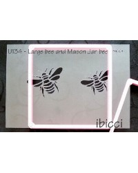 Bees large and small stencil