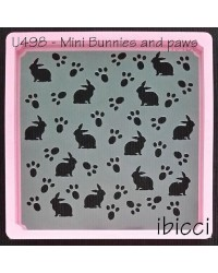 Easter Mini Bunny and paws stencil by ibicci