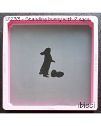 Standing Easter Bunny with 2 Eggs stencil by ibicci