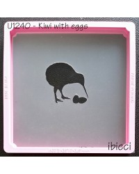 Easter Kiwi with 2 Eggs stencil by ibicci