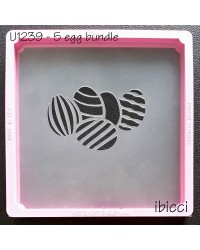 Easter egg bundle of 5 stencil by ibicci