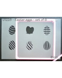 Easter eggs set 6 stencil by ibicci