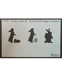Easter Cake size stencil Easter bunnies stencil by ibicci