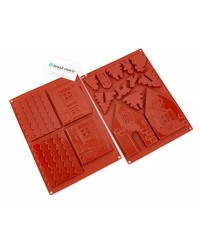 GINGERBREAD HOUSE Small SILICONE CHOCOLATE MOULD