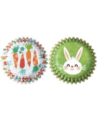 Bunny and Carrot Mini Cupcake papers (100)