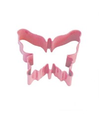 Pink metal butterfly cookie cutter