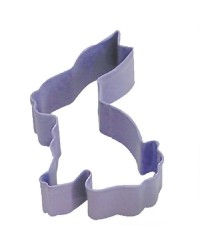 Easter Bunny Rabbit sitting Purple metal Cookie cutter