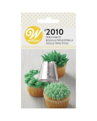 Large Wilton icing nozzle tip No 2010 Triple Star Multi Opening
