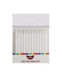 Twist candles White (pack 24)