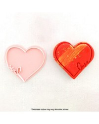 Heart Shaped embosser stamp with Love message