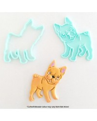 French Bulldog cookie cutter and embosser