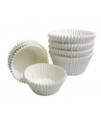 White mini cupcake papers or truffle cups