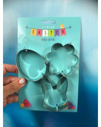 Easter cookie cutters set of 3 Egg blossom and bunny