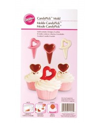 Heart cupcake pick chocolate mould Wilton