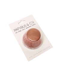 Foil baking cups Rose Gold 50mm x 35mm (50) cupcake papers