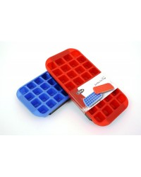 image: Silicone ice cube tray with support tray suitable for isomalt