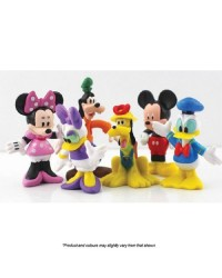Mickey Mouse and friends plastic cake figurine topper set 6