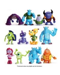 Monsters University plastic cake figurine topper set 12