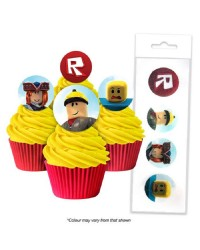 Roblox pack 16 wafer paper cupcake toppers