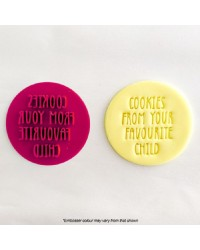 Favourite child embosser stamp for Mothers day or Fathers day