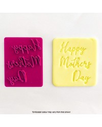Happy Mothers Day cookie cutter and embosser stamp
